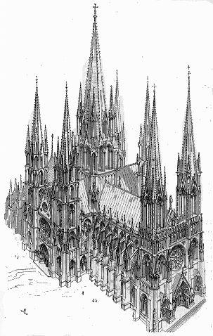巴黎 建筑 矢量图 手绘