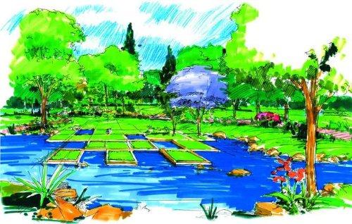 马克笔景观手绘图-手绘100网 最大最专业手绘网站 手绘图片库 最好的