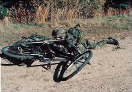 美军的自行车部队图片