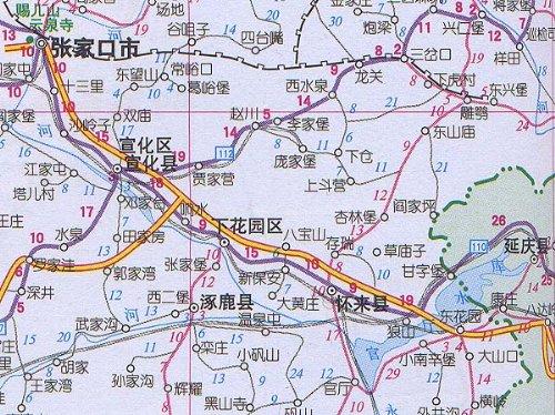 宣化区行政地图